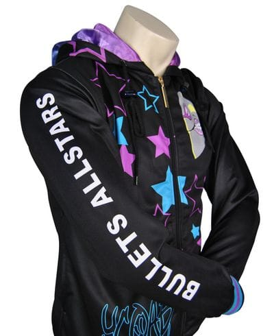 Bullets All Stars Cheer Squad Exodus Polyester Hoodie Sleeve Design