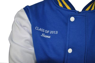 All Faisal College Exodus Baseball Jacket embroidered text