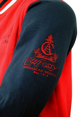 calrossy anglican school exodus varsity jackets embroidered emblem