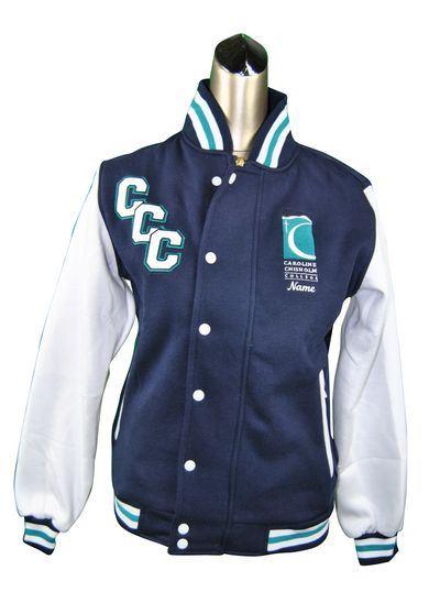 caroline chisholm college exodus baseball jacket front