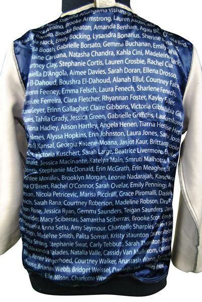 caroline chisholm college exodus baseball jacket name lining