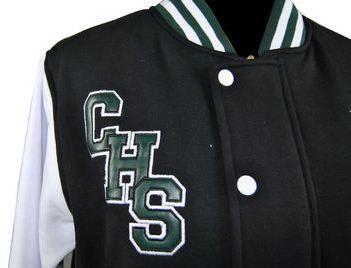 casula high school exodus baseball jacket embroidered school initials