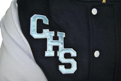 cootamundra high school exodus baseball jacket satin applique initials