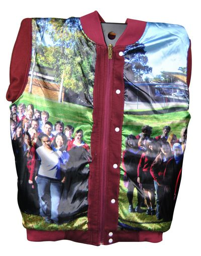 campbelltown performing arts high school exodus baseball jacket photo lining side panels