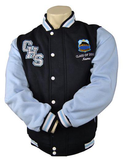 corrimal high school exodus baseball jacket front