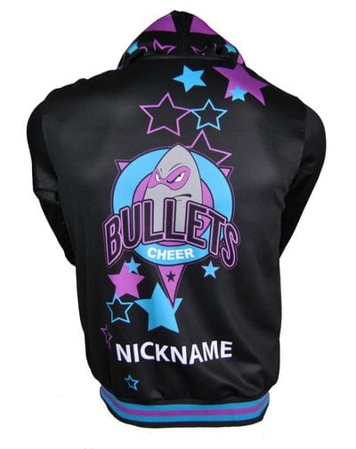 Bullets All Stars Cheer Squad Exodus Polyester Hoodie Back