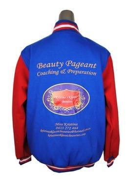 Kristina Klassic Beauty Pageant Exodus Baseball Jacket Back