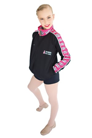 Exodus Wear Sparks Dance Centre custom active jacket front