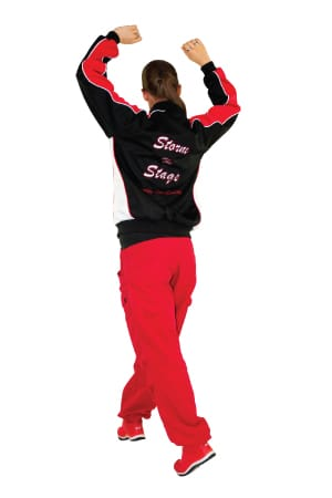 Exodus Wear Storm the Stage custom active dance jacket back