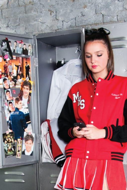 Exodus Wear Year 12 Custom Varsity Jacket locker room cheerleader