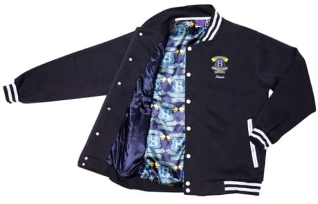 Exodus Wear custom jacket lining school emblem pattern