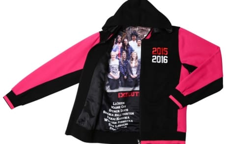 Exodus Wear custom jacket lining with photos and names