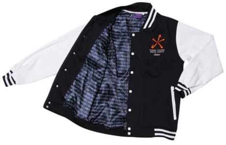 Exodus Wear custom jacket lining with repeat school name
