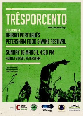 Tresporcento Portuguese Band Petersham Food Wine Festival sponsored Exodus Wear