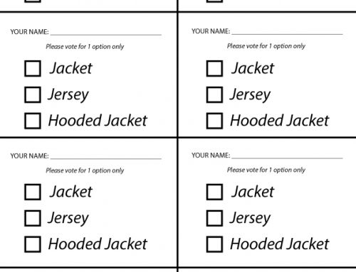 Year 12 Jersey Voting Card Templates available for download