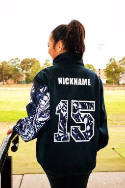 exodus wear custom year 12 active jacket sleeve detail