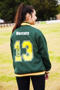 ex baseball custom made year 12 varsity jacket