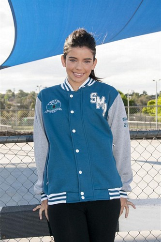 ex baseball custom made year 12 varsity jacket religious design front