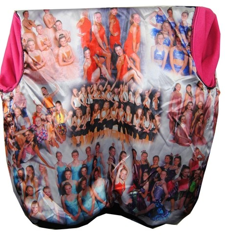 Barker Dance School Custom Hooded Jacket photo collage lining