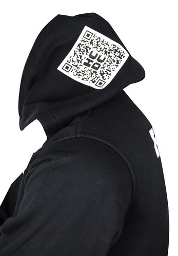 Hutt City Dance New Zealand Custom Dance Jacket QR code on hood