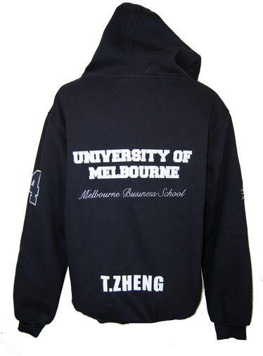 University of Melbourne Buisness School Hoodie Back