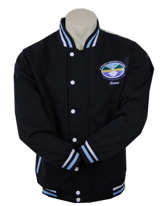 St Peters Anglican College Year 12 Varsity Style Jacket and Cardigan Front