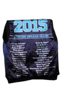 St Peters Anglican College Year 12 Varsity Style Jacket and Cardigan Name Lining