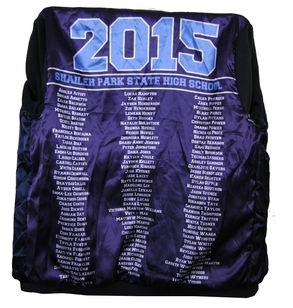 Shailer Park High School Year 12 Jersey And Baseball Jackets Name Lining