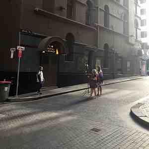 Sydney laneways tracksuits photoshoot