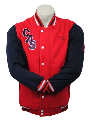calrossy anglican school exodus varsity jackets front
