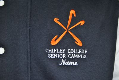 chifley college senior campus custom baseball jacket