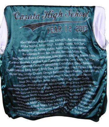 casula high school exodus baseball jacket name lining