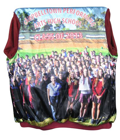 campbelltown performing arts high school exodus baseball jacket photo lining
