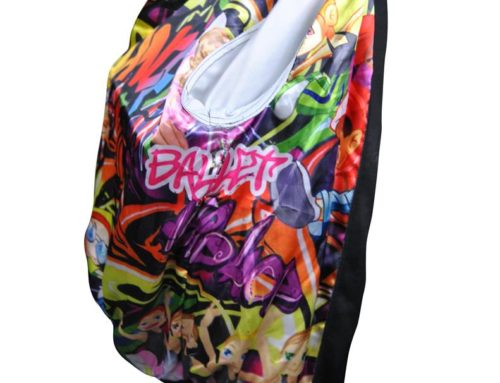 Bingara Central School Reversible Varsity Graffiti Print Jacket
