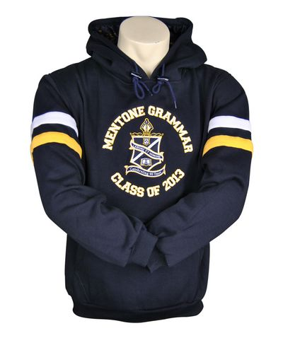 mentone grammar school hooded jumper front