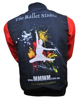 mmmm dance reversible jacket waterproof side back