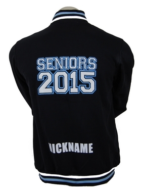 st peters anglican college year 12 varsity style jacket and cardigan backs