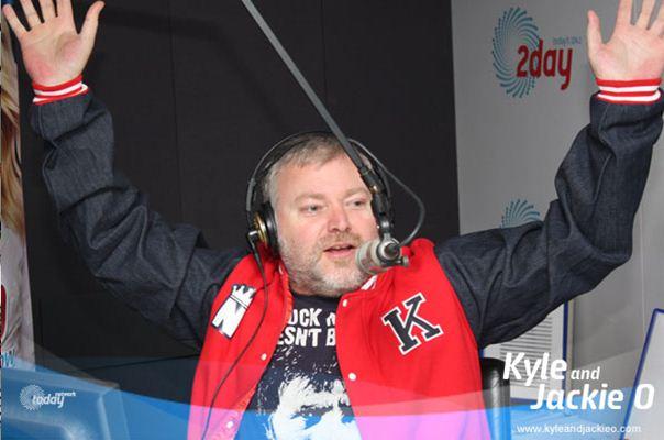 kyle sandilands wearing custom baseball jacket masterchef challenge
