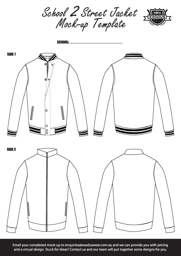 Custom reversible jacket