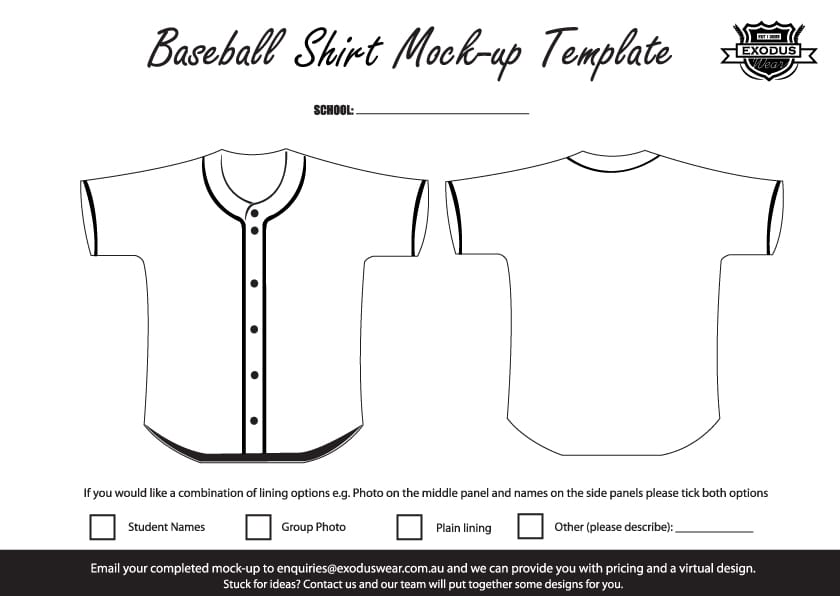 baseball shirt designs template design your own custom baseball shirt with your