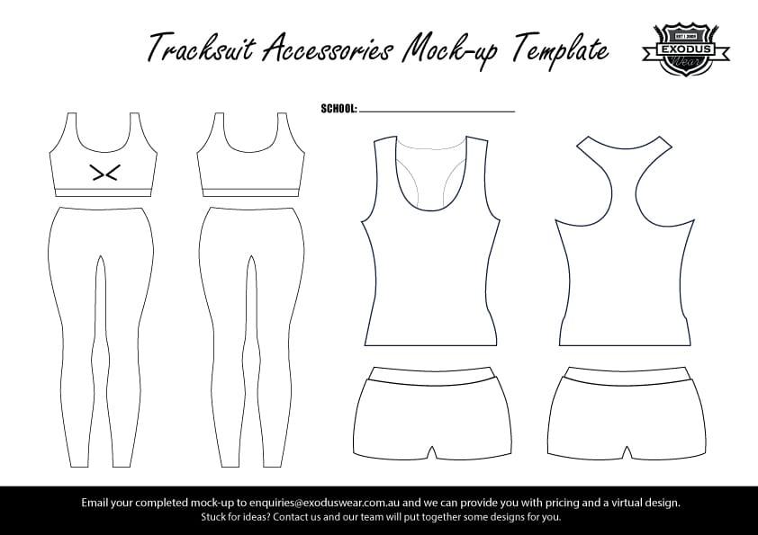 Tracksuit Design Template