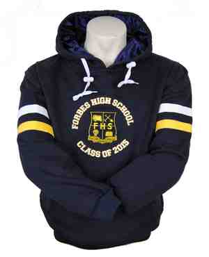 forbes high school year 12 hooded jumper front