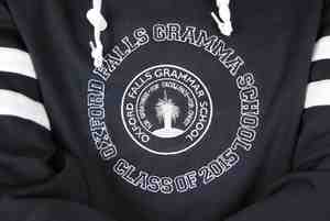 oxford falls grammar school custom made hooded jumper baseball year 12 jackets emblem