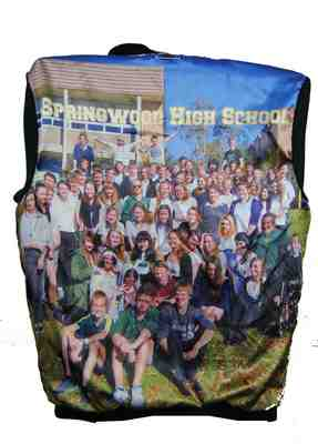 springwood high school year 12 jacket photo lining back
