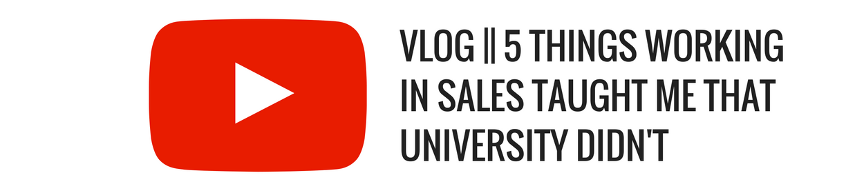 things working in sales taught me that university didn't