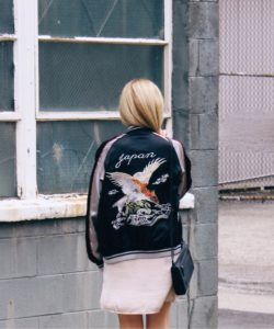 Sukajan Jackets are stealing the blog scene with their beautiful designs and high quality finish. Image: freepeople.com