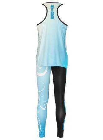 Custom dancewear uniform sublimated singlet leggings back