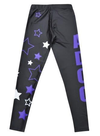 cheap dance uniform leggings sublimated black
