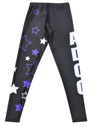 cheap dance uniform leggings sublimated stars