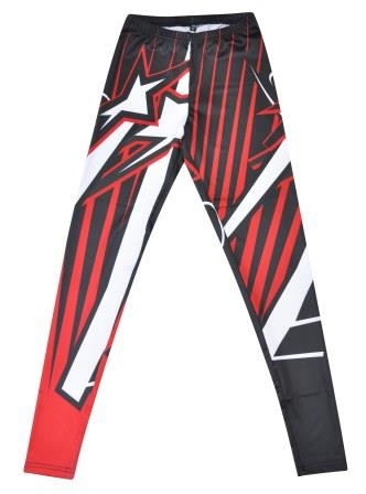 custom dancewear leggings stars design front
